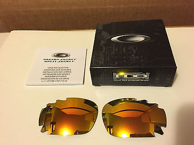 NEW Oakley - Racing Jacket - Replacement lens set: Fire Iridium Vented