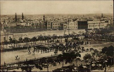 Cairo Egypt Tapis Sacre c1910 Real Photo Postcard