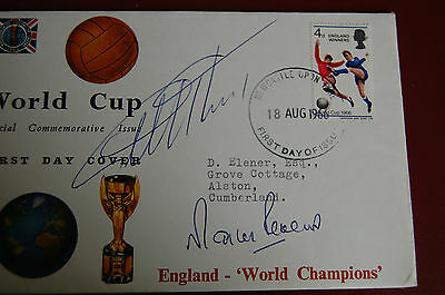 1966 World Cup Fdc Signed Hurst, Peters 2