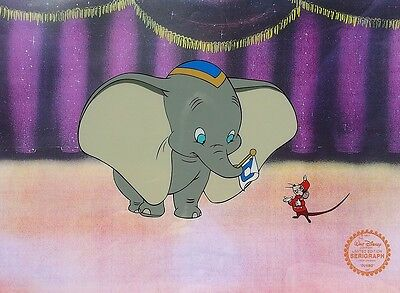 Disney Original Animation Art Cel Sericel Dumbo Elephant & Timothy Mouse