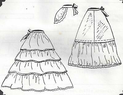 "18&202&26""antique French Fashion Lady Doll Ruffle&hoop Petticoat&bustle Pattern"