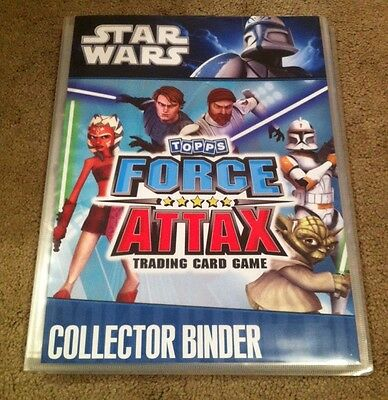 Star Wars Topps Force Attax Trading Card Set 2010 In Binder Complete 194/190