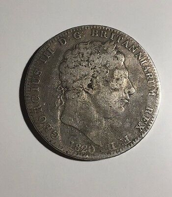 1820 George III - Crown - 0.925 Silver. Great Colour