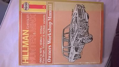 haynes workshop manual  hillman hunter & minx 1966 - 78
