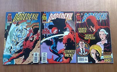 3 x DAREDEVIL #132,361 & 362 MARVEL COMICS 1976 (Inc 2nd BULLSEYE NEAR FINE COND