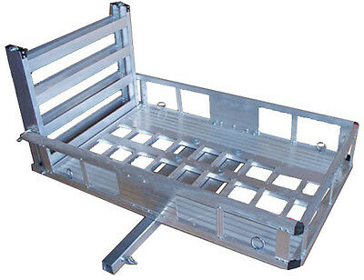 "Aluminum 2"" Hitch Wheel Chair Scooter Bike RAMP Bed Removable Carrier 500 lb Cap"