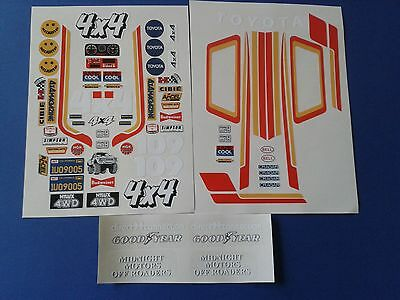 Toyota Hilux  Stickers Decals Tamiya Hpi  Precut Vinyl Vintage Custom Rc 1/10Th