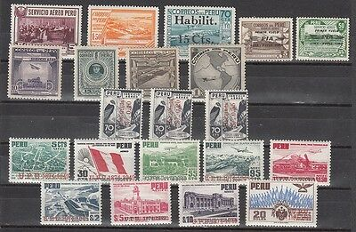 Peru - mixed mint hinged and NH better values and sets (Catalog Value $47.00)