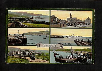 1913 Multiview Postcard Of Largs. Valentine's Series