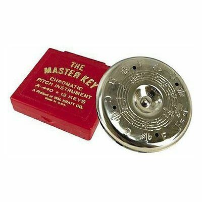 Master Key Chromatic Pitch Pipe (C To C) W/ Embossed Notations On Top & Bottom
