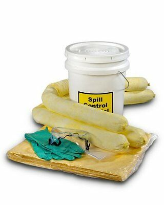 5 Gallons Hazmat Absorbent Spill Kit, Perforated pads make clean-up quick by ESP