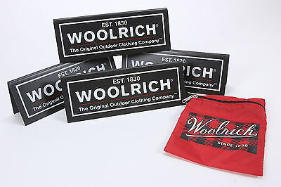 "4 WOOLRICH Acrylic In-Store Advertiser Display Signs 8"" x 3"" Outdoor Clothing Co"