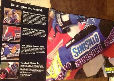 1993 Jeremy Mcgrath 6 Page Pullout Sinisalo Brochure Ad All Color