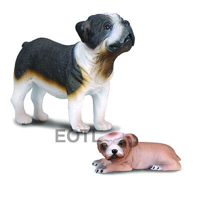 BULLDOG AND PUP by CollectA// toy//dog//88179//88180
