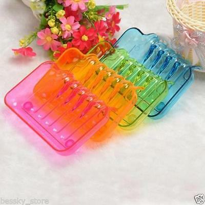 Bathroom Accessorie Shower Soap Box Dish Storage Plate Tray Holder Case Suction