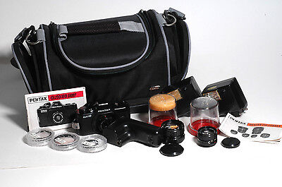 Pentax 110 Outfit+Lenses/winder/flashs/fitlers/bag-Great Condition!!!