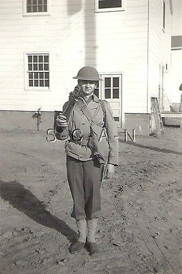 WWII Original Large US Army RP- Soldier- WWI Style Helmet- Kit- 1903A3 Rifle