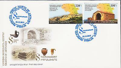 Nagorno Mountainous Karabakh Armenia 2015 Fdc Sights Of Artsakh R17285