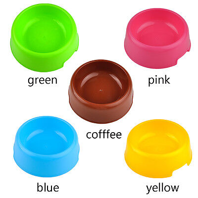 Durable Plastic Cat Dog Pet Feeding Bowl Water Dish Feeder Portable easy to wash