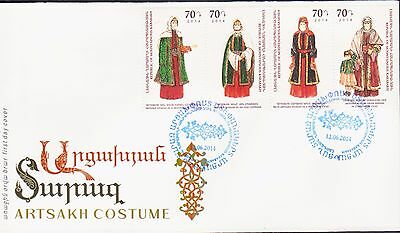 Nagorno Mountainous Karabakh Armenia 2014 Fdc National Costumes R17296