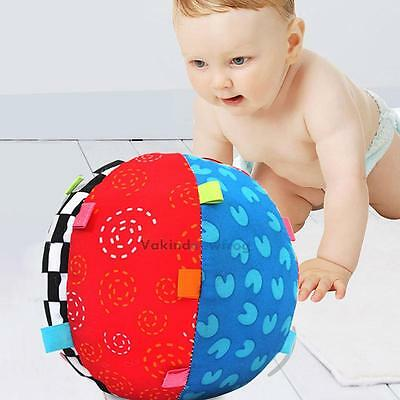 Baby Colorful Ball Bell Soft Hand Grasp Music Sense Educational Plush Toys Game#