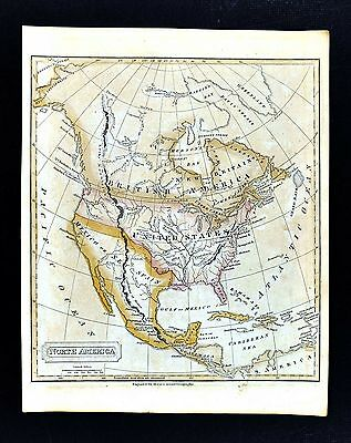 c 1821 Jedidiah Morse Map - North America - United States British Canada Mexico