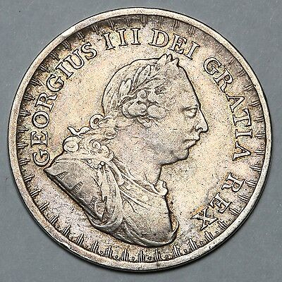 1811 King George Iii Great Britain Silver 3 Three Shilling Bank Token Coin
