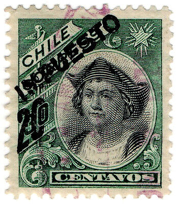 (I.B) Chile Revenue : Duty Stamp 20c on 30c OP