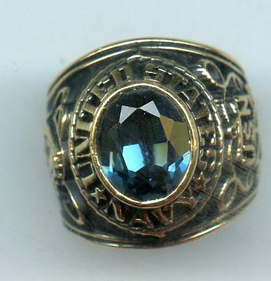 Gold Plated U.S.A Navy College Ring