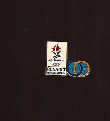 Pin'S Jeux Olympiques Albertville Renault Cob Or 1992 *****