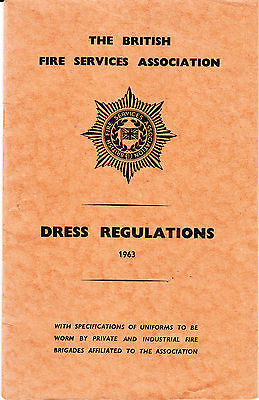 British Fire Services Association Dress Regulations 1963 RARE Booklet