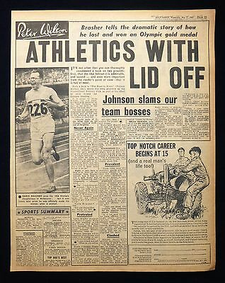 CHRIS BRASHER 1956 OLYMPIC GOLD TRACK & FIELD ATHLETE ATHLETICS 1pp ARTICLE 1960