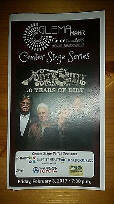 The NITTY GRITTY DIRT BAND Authentic Concert Program 2-3-17 Kentucky Not Poster
