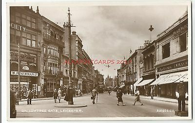 Leicester Gallowtree Gate Real Photo Vintage Postcard 4.1