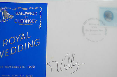 Princess Anne & Mark Phillips Wedding Fdc Signed Mark Phillips 2