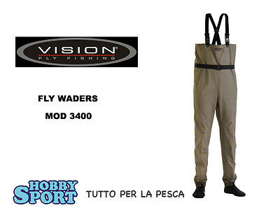 Stivali Pesca  A Mosca Spinning  Waders Taglia M Vision 3400