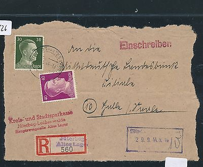 94626) DR Ausschnitt as Reco-Pchn RZ L2 Jüterbog Altes Lager...1944, MiF 70PF