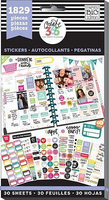 Me & My Big Ideas Create 365 The Happy Planner Basics Value Pack Stickers