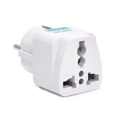 1/5Pcs Universal UK US AU To EU AC Power Socket Plug Travel Charger Adapter