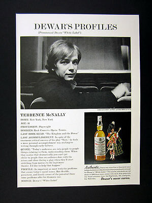 1971 Terrence McNally photo Dewar's Scotch vintage print Ad