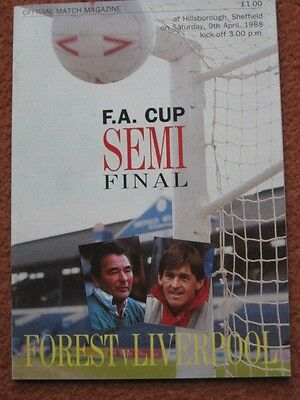 1988 FAC SEMI FINAL: NOTTINGHAM FOREST v LIVERPOOL @HILLSBOROUGH