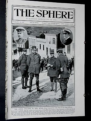1922 The SPHERE-Greek Defeat Asia Minor,Turkish Capture of Smyrna,Mustapha Kemal