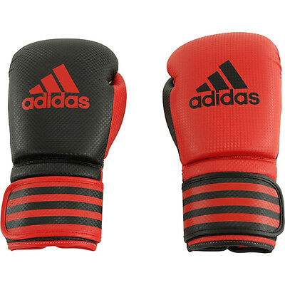 Adidas Power 200 Duo Hook and Loop Boxing Gloves - 10 oz. - Red/Black