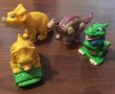 Rare Vintage Land Before Time PVC Wind Up Lot Cera Ducky Littlefoot