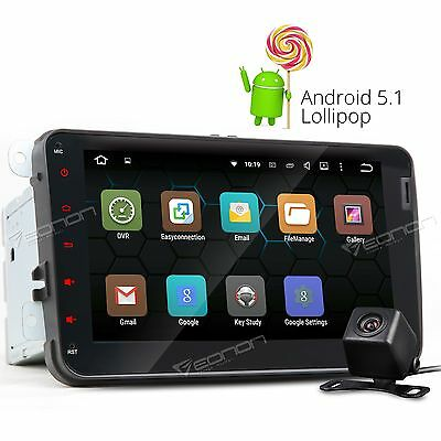 Android Car Stereo GPS Navigator Navigation WIFI for VW Golf Jetta EOS e Camera+