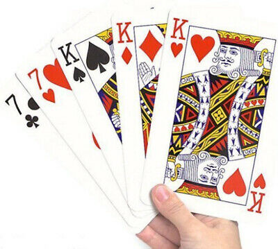 86mm x 122mm Large Playing Cards 52 Card Deck and Two Jokers - By TRIXES