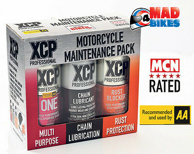 XCP Motorcycle Maintenance Pack: Rust Blocker, Chain Lube, XCP One, Lance & More
