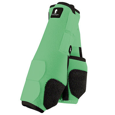 Medium Mint Classic Equine Legacy System Horse Hind Leg Sport Boot Pair