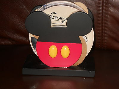 DISNEY'S Mickey Mouse & Friends Exclusive Ceramic Coasters and Holder