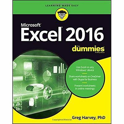 Excel 2016 For Dummies (Excel for Dummies) - Paperback NEW Greg Harvey(Aut 5 Aug